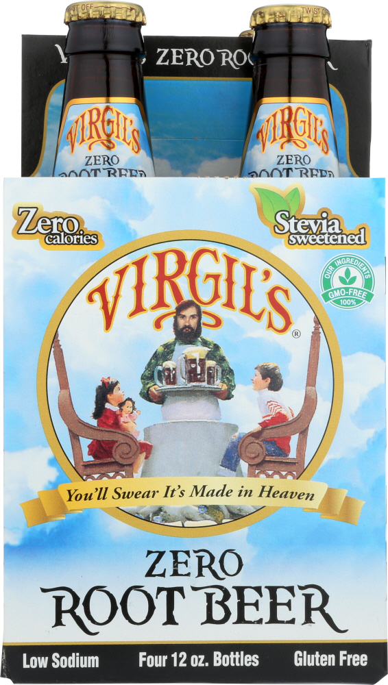VIRGIL'S: Zero Root Beer 4 pack, 48 oz
