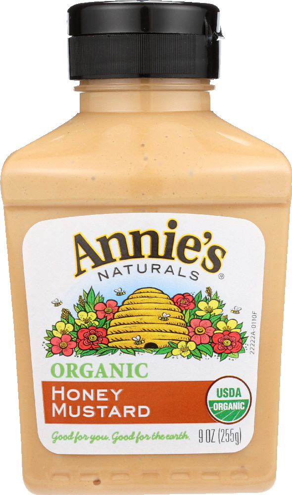 ANNIES HOMEGROWN: Organic Honey Mustard, 9 oz
