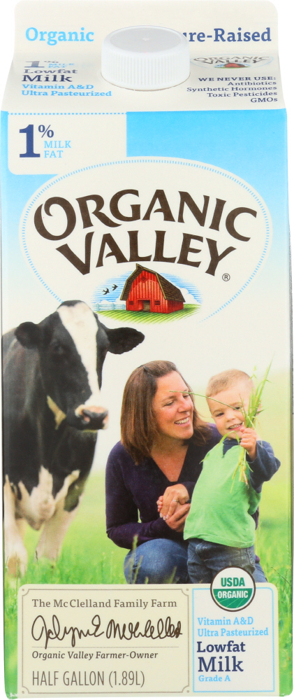 ORGANIC VALLEY: Milk Organic 1% Lowfat Ultra Pasteurized, 64 oz