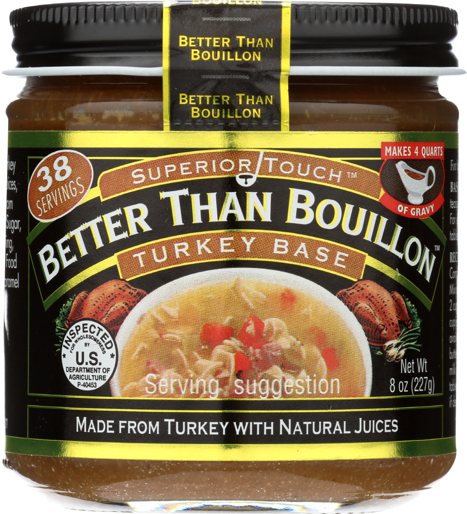 BETTER THAN BOUILLON: Superior Touch Turkey Base, 8 oz