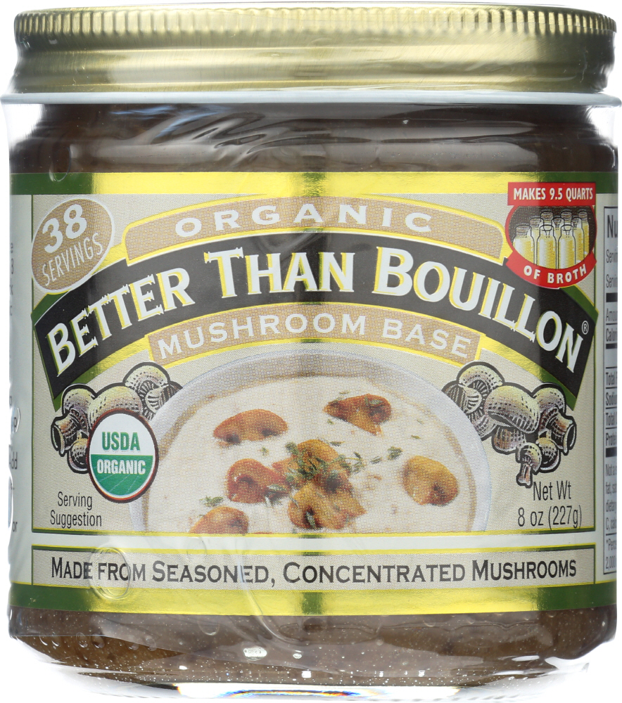 BETTER THAN BOUILLON: Base Mushroom Organic, 8 oz