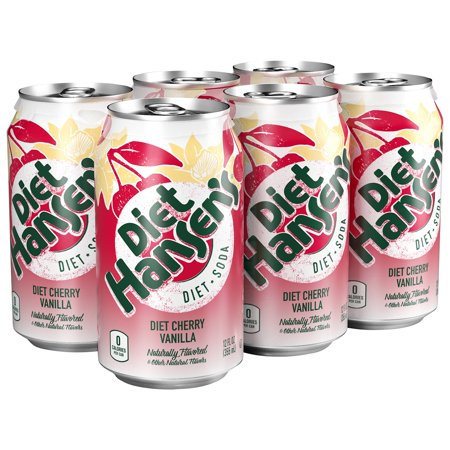 HANSEN: Diet Soda Cherry Vanilla 6-12oz, 72 oz