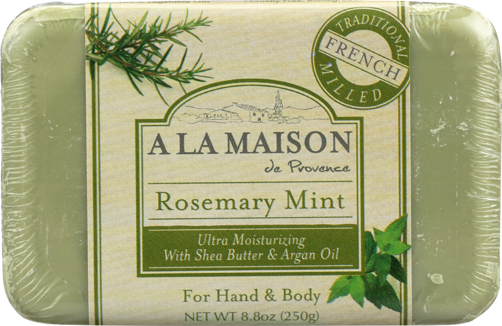 A LA MAISON: Rosemary Mint Bar Soap, 8.8 oz