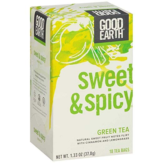 GOOD EARTH: Organic Sweet &  Spicy Green Tea, 18 bg