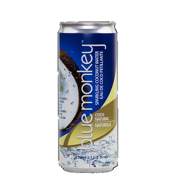 BLUE MONKEY: Sparkling Coconut Water Coco Natural, 11.2 fl oz
