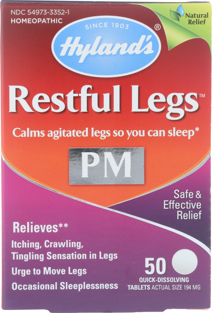 HYLAND: Supplement Restful Leg, 50 pc