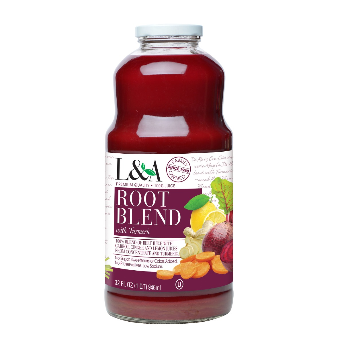 L & A JUICE: Root Blend Cleanse Juice, 32 oz