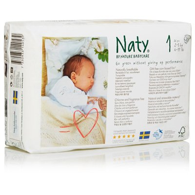 NATY-ECO BY NATY: Diapers Size 1 8-14 lbs, 36 pc