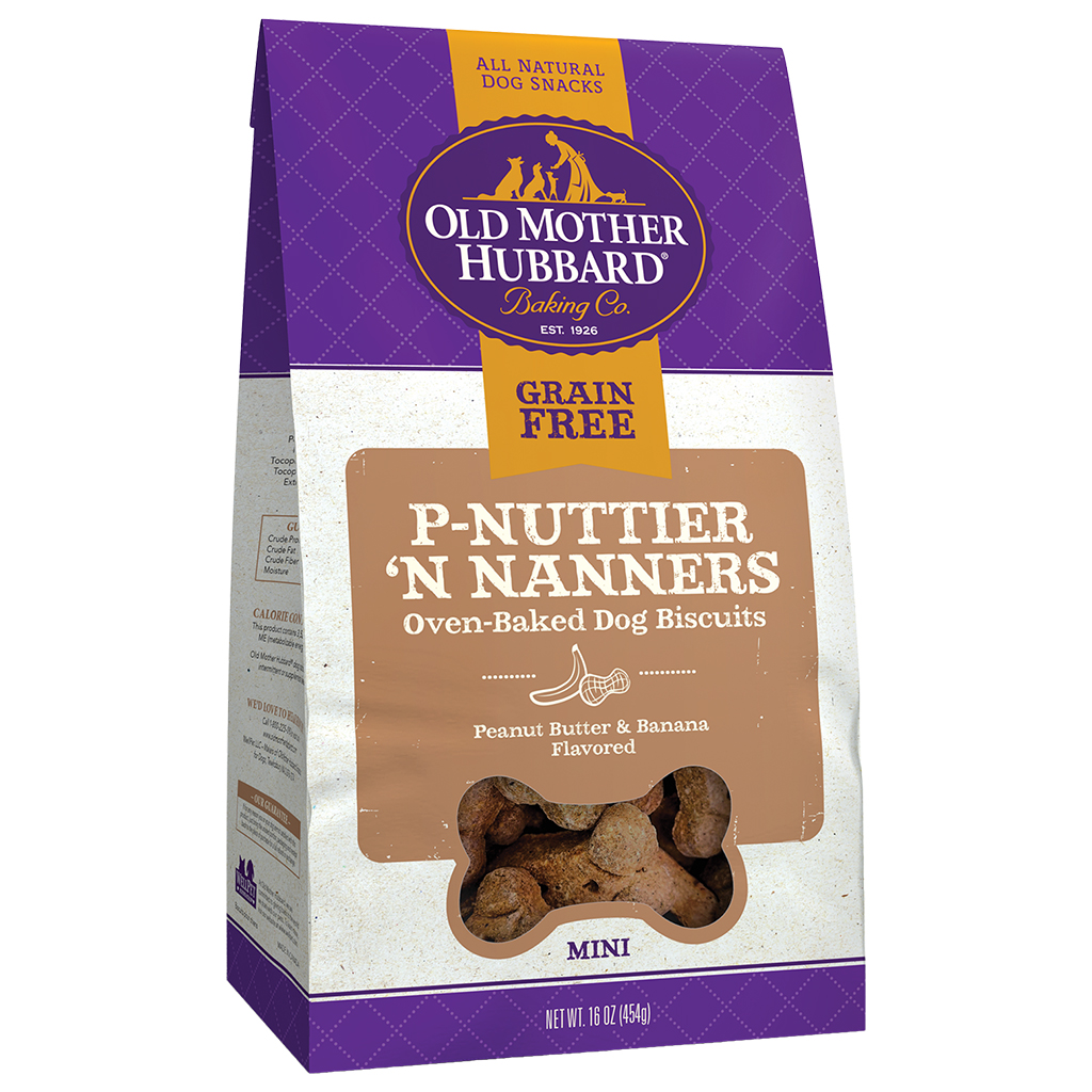 WELLNESS: P-Nuttier N Nanners Biscuits Dog Treats, 16 oz