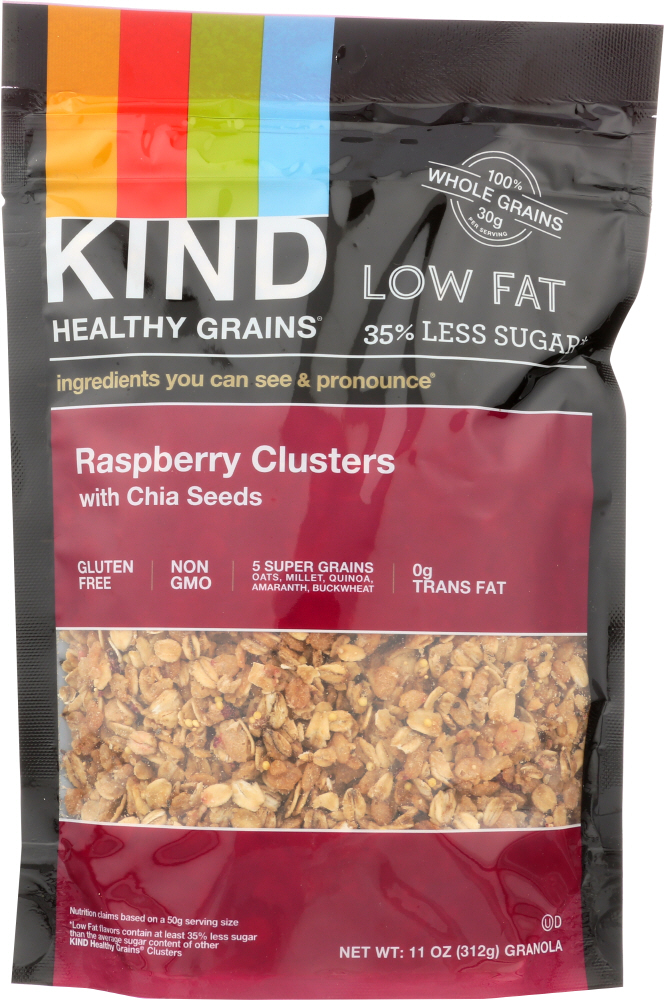 KIND: Healthy Grains Raspberry Clusters with Chia Seeds, 11 oz