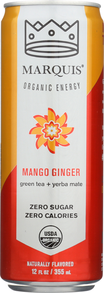 MARQUIS: Mango Ginger Energy Drink, 12 oz