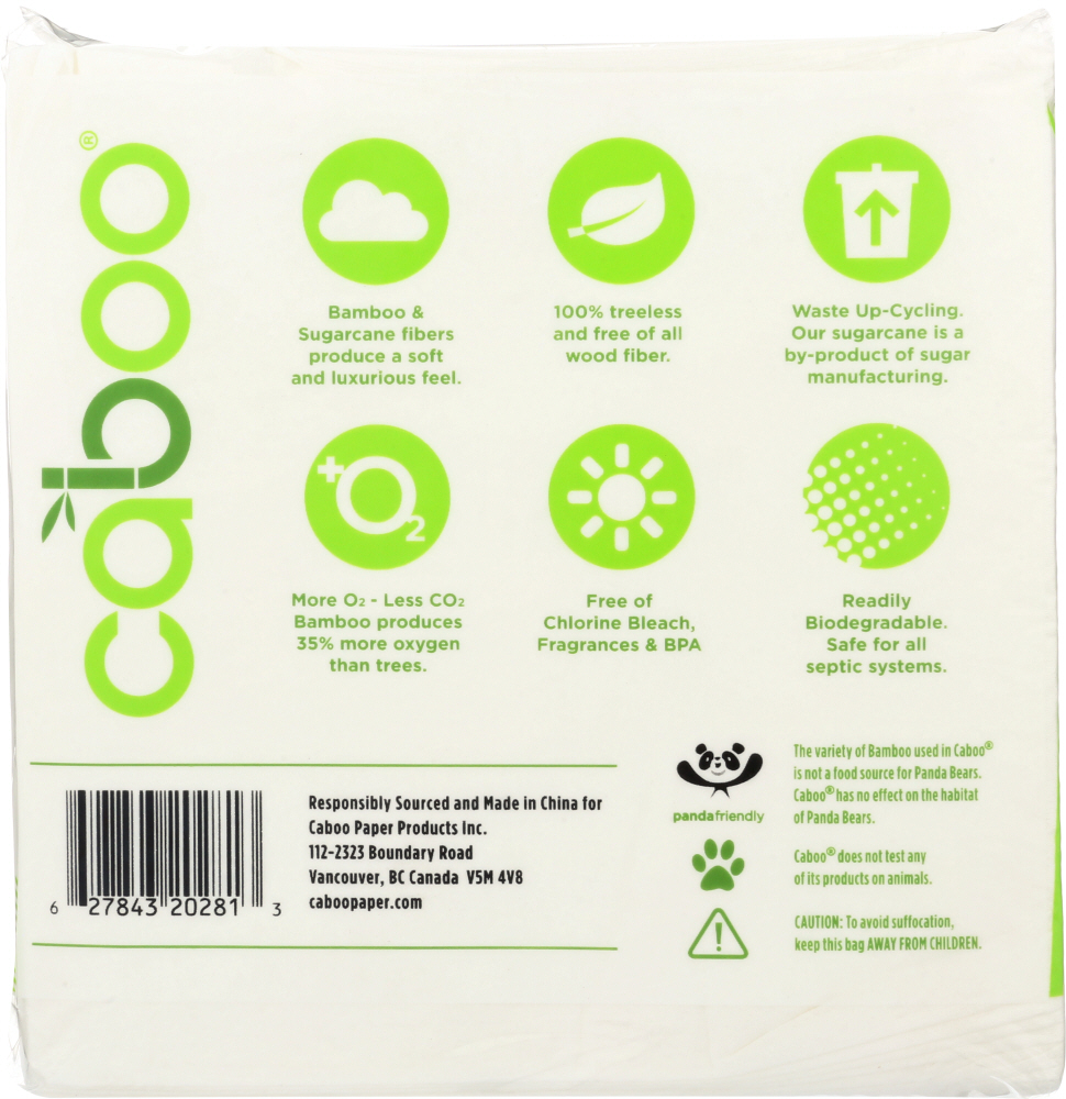 CABOO: 1-Ply Table Napkins 250 Sheets, 1 Pack