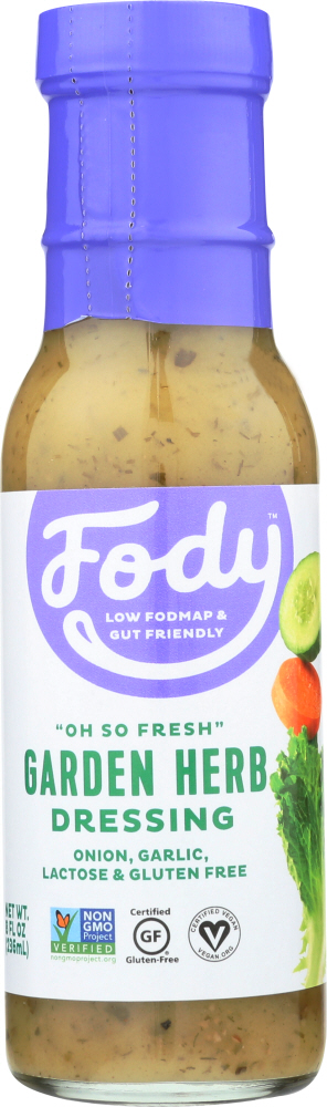 FODY FOOD CO: Low FODMAP Garden Herb Dressing, 8 fo