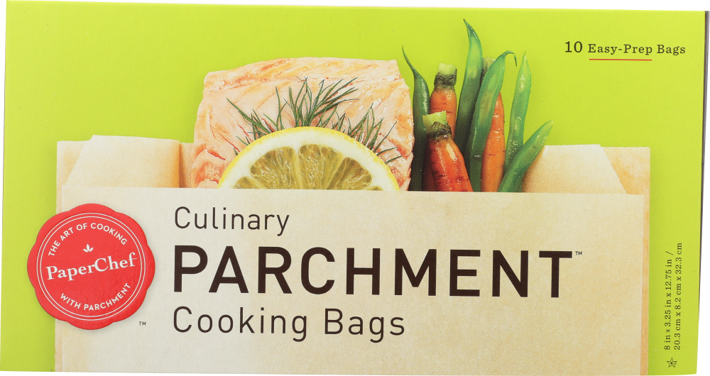 PAPER CHEF: Culinary Parchment Cooking Bags, 10 Pc