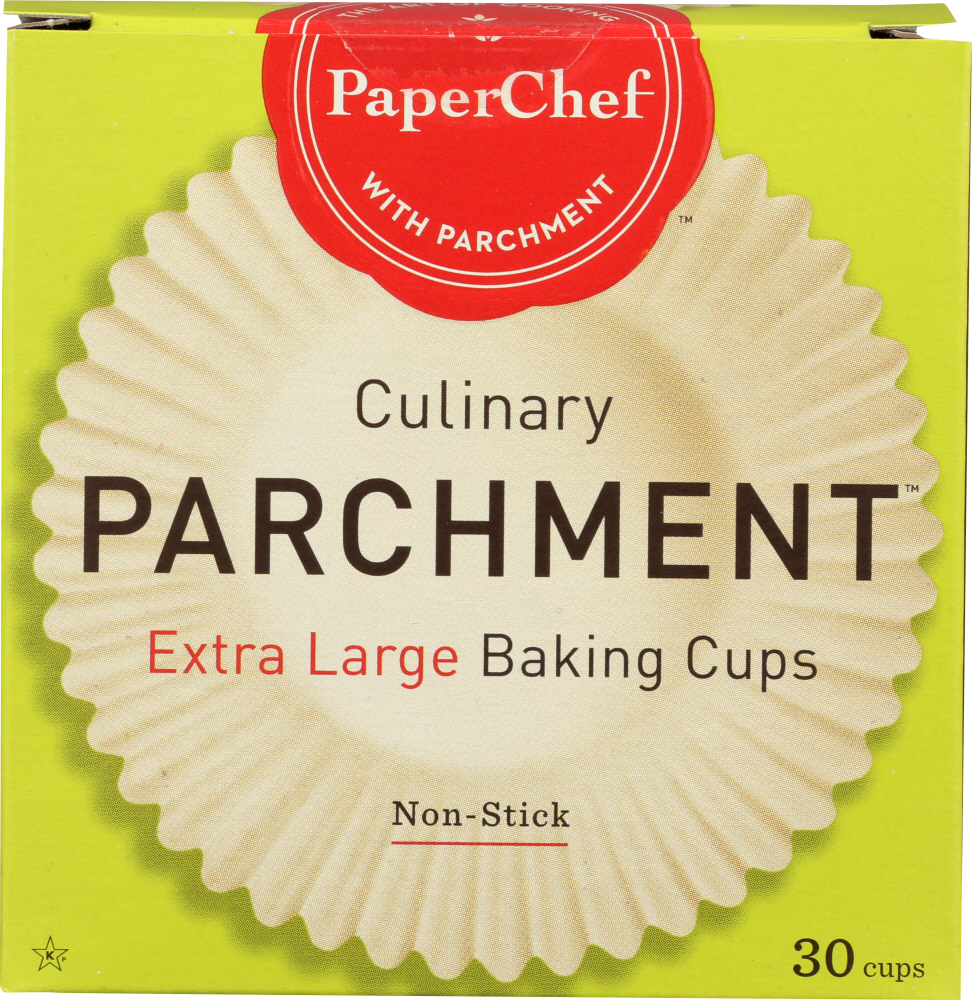 PAPERCHEF: Culinary Parchment Extra Large Baking Cups, 30 Pc