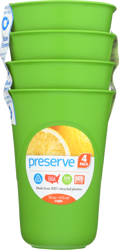PRESERVE: Apple Green Everyday Cup 16 oz. 4 pc