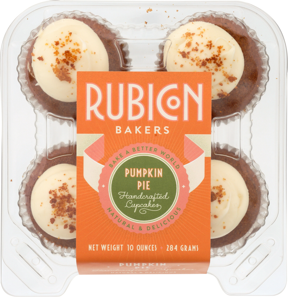 RUBICON BAKERY: Pumpkin Pie Cupcakes 4pk, 10 oz