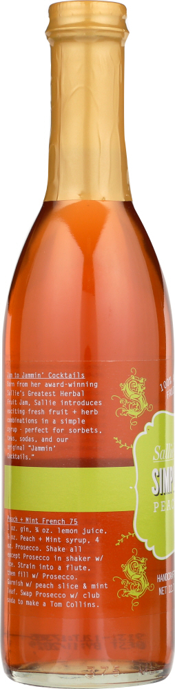 SALLIES GREATEST: Syrup Peach and Mint, 12.7 oz