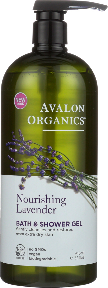 AVALON ORGANICS: Bath & Shower Gel Lavender, 32 oz