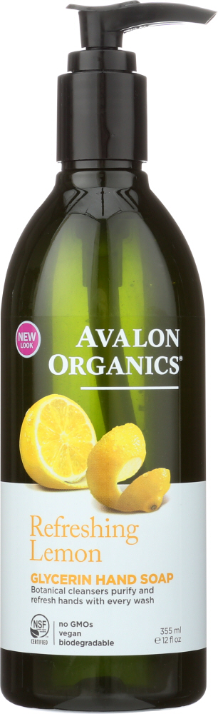 AVALON ORGANICS: Glycerin Hand Soap Lemon, 12 Oz