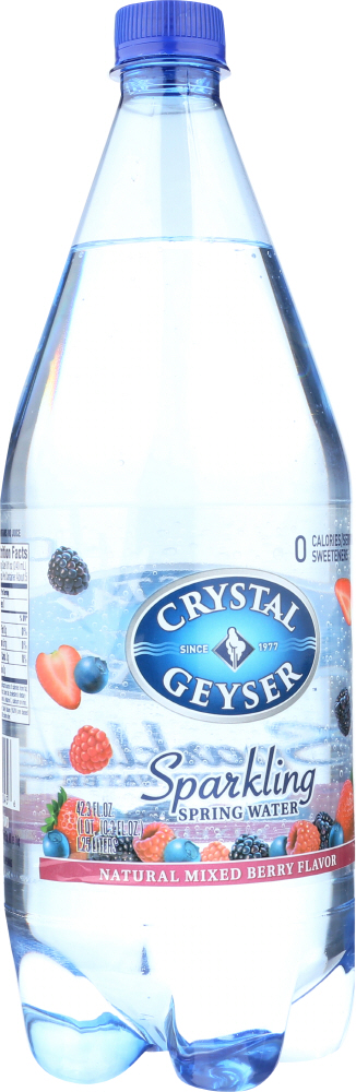 CRYSTAL GEYSER: Sparkling Spring Water Mixed Berry, 1.25 lt