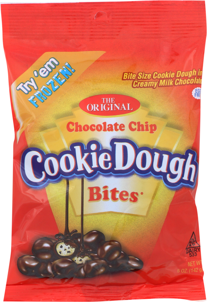 BITES COOKIE CANDY: Chocolate Chip Cookie Dough Candy, 5 oz