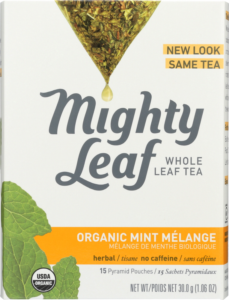 MIGHTY LEAF: Tea Mint Melange Organic, 15 bg