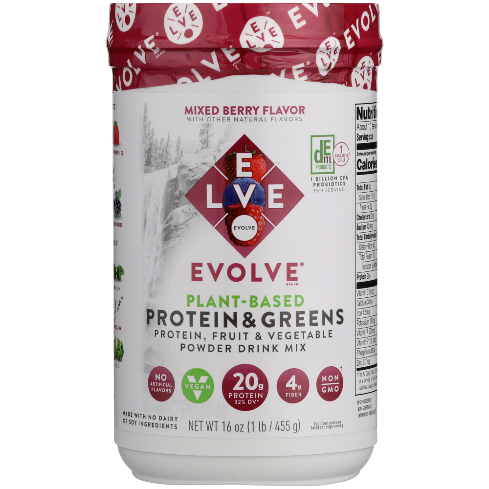 EVOLVE: Protein & Greens Powder Mixed Berry, 1 lb