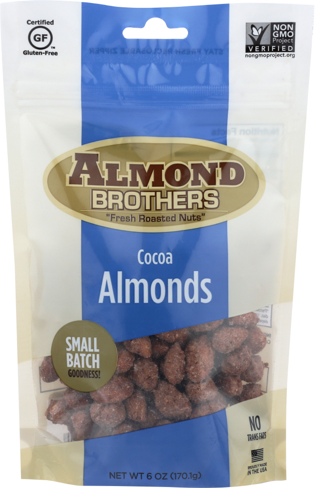 ALMOND BROTHERS: Almonds-Whole Cocoa, 6 oz