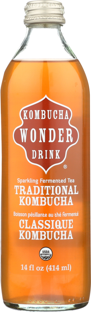 KOMBUCHA WONDER DRINK: Organic Traditional Kombucha, 14 oz