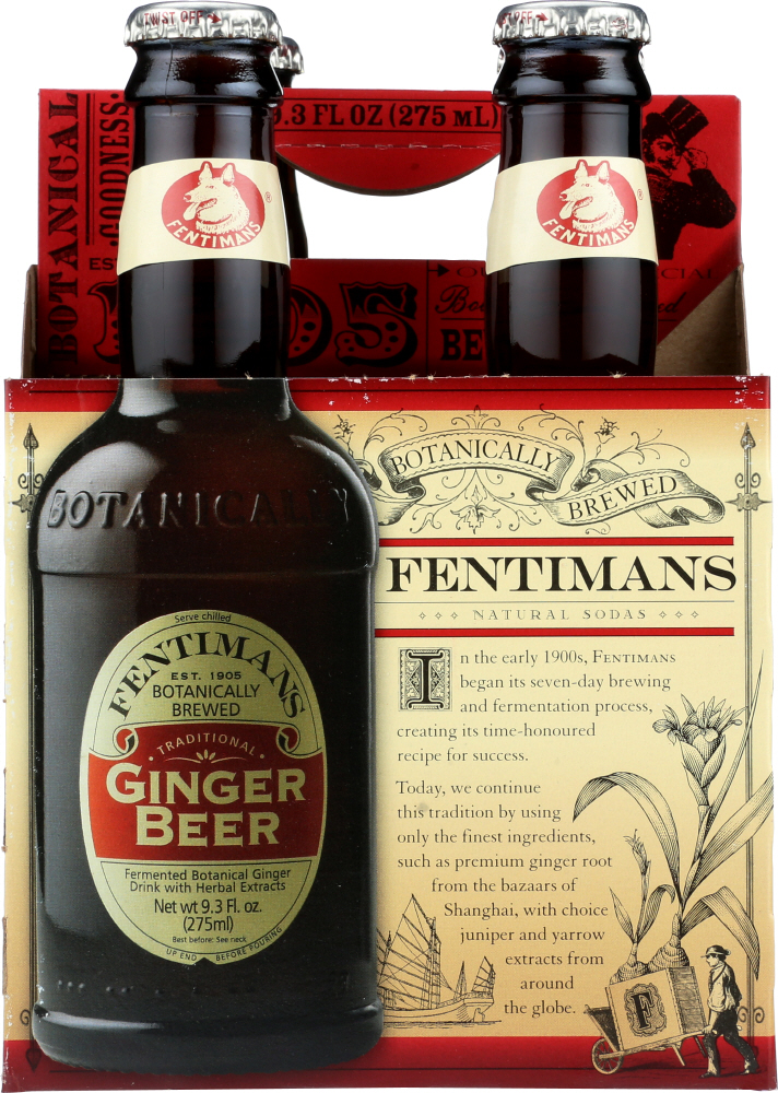 FENTIMANS: Traditional Ginger Beer 4 Count, 37.2 oz