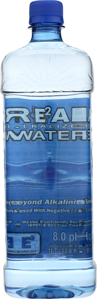 REAL WATER: Alkalized Water, 33.81 oz