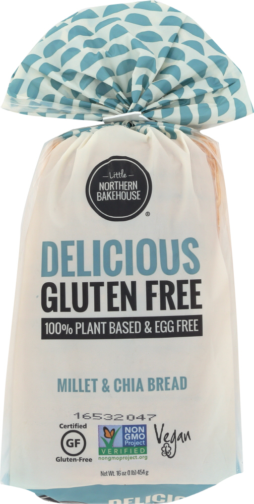 LITTLENORT: Bread Millet and Chia Loaf Gluten Free, 16 oz