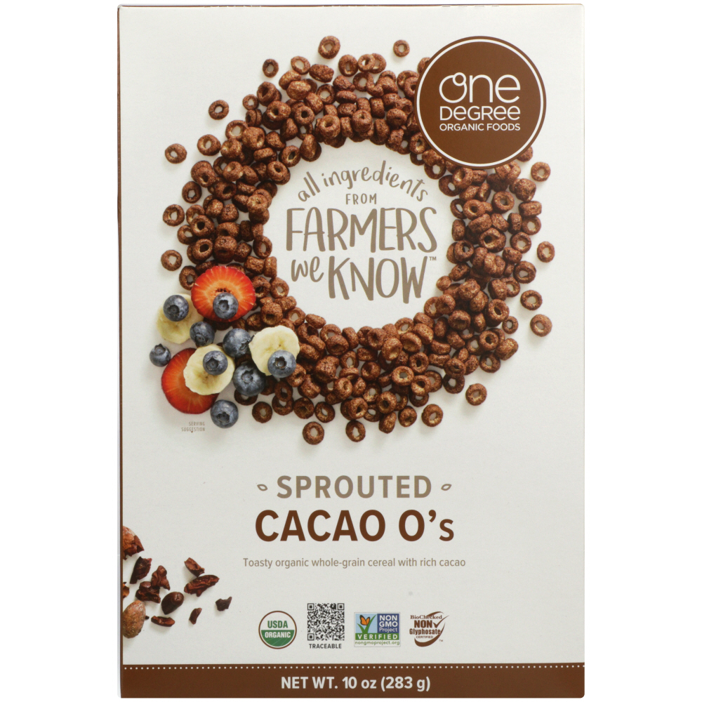 ONE DEGREE: Sprouted Cacao O Cereal, 10 oz