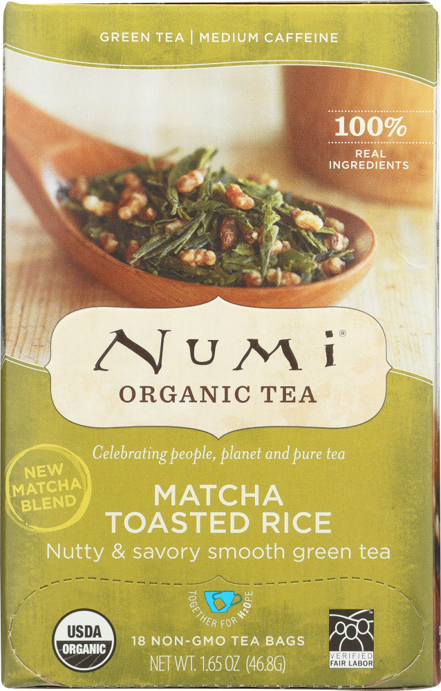 NUMI TEAS: Matcha Toasted Rice Green Tea, 18 bg