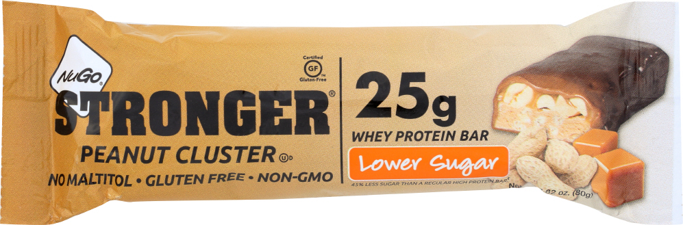 NUGO: Stronger Peanut Cluster Bar, 2.82 oz