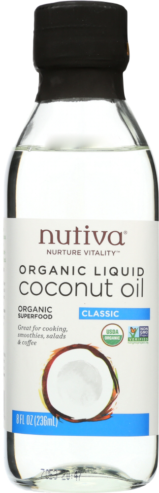 NUTIVA: Organic Liquid Coconut Oil, 8 oz