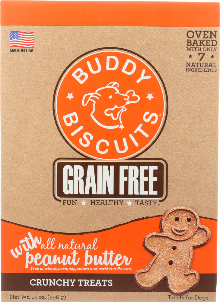 BUDDY BISCUITS: Baked Peanut Butter Dog Biscuits, 14 oz
