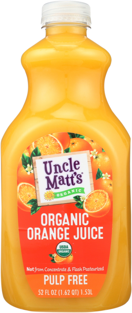 UNCLE MATTS ORGANIC: Pulp Free Organic Orange Juice, 52 oz