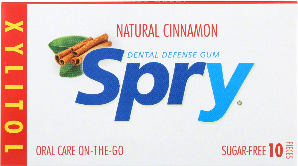 SPRY: Chewing Gum Cinnamon, 10 Pieces