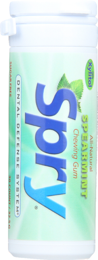 SPRY: Chewing Gum Spearmint, 30 Pieces