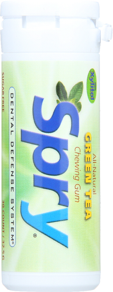 SPRY: Chewing Gum Green Tea, 30 Pieces