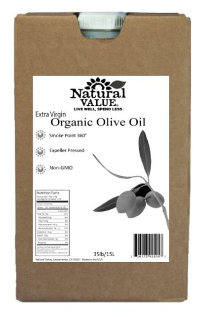 NATURAL VALUE: Extra Virgin Olive Organic Oil, 35 lb