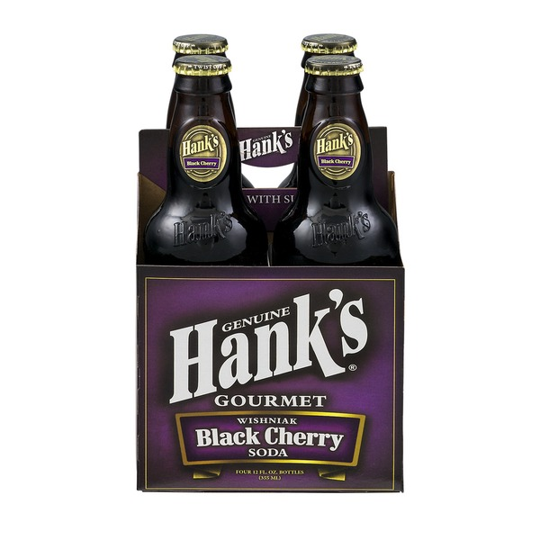 HANKS: Gourmet Soda Wishniak Black Cherry 4 Pack, 48 fo