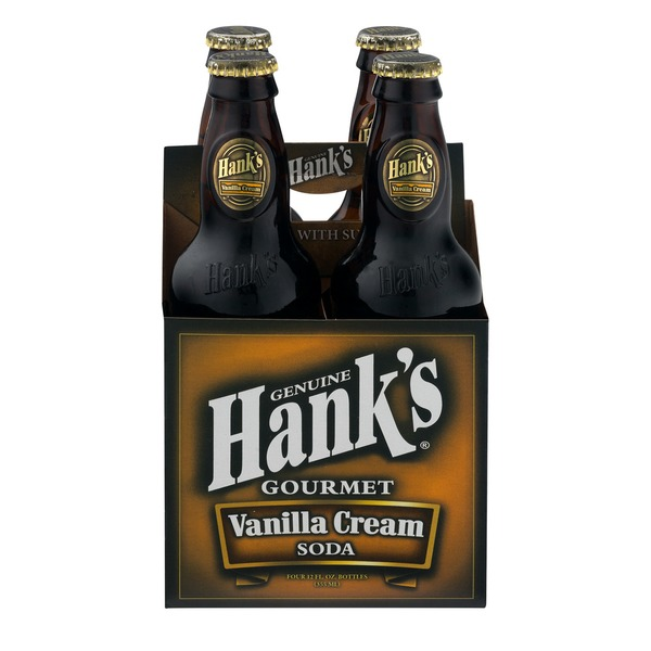 HANKS: Gourmet Soda Vanilla Cream 4 Pack, 48 fo