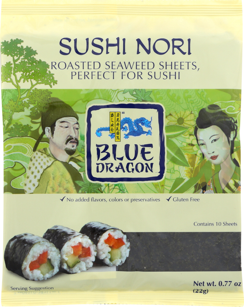 BLUE DRAGON: Sushi Nori Roasted Seaweed Perfect For Sushi, 0.77 oz