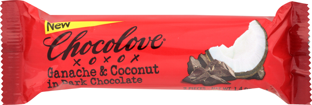 CHOCOLOVE: Dark Chocolate Bar Canache Coconut, 1.41 oz