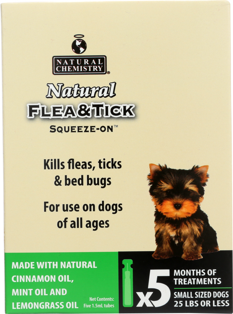 NATURAL CHEMISTRY: Natural Flea & Tick Squeeze-On for Small Dogs, 7.5 ml
