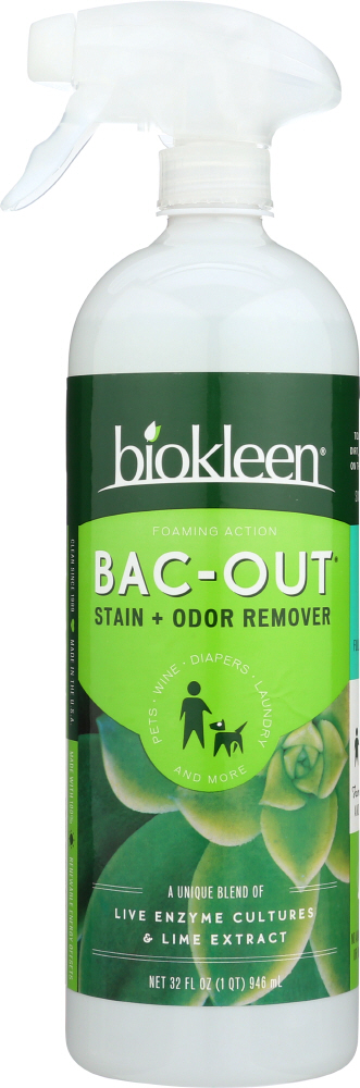 BIO KLEEN: Bac Out Stain And Odor Eliminator With Foaming Sprayer, 32 oz