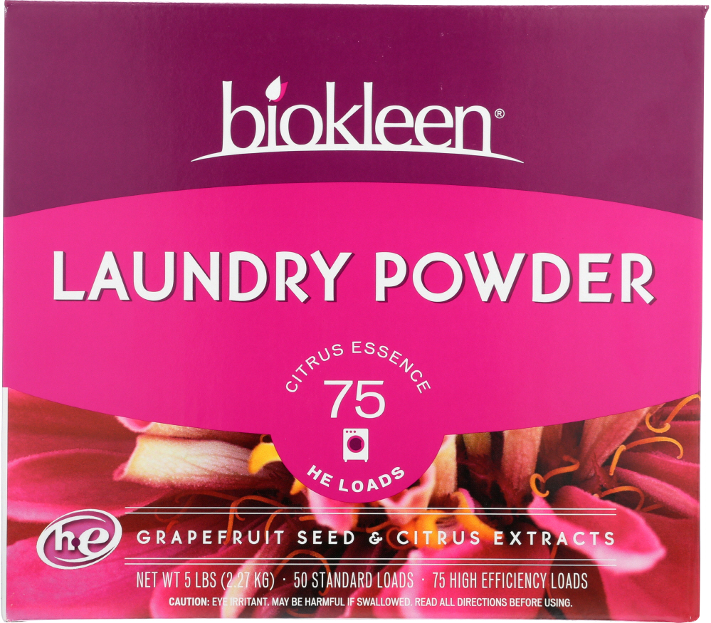 BIO KLEEN: Laundry Powder Grapefruit Seed And Citrus Extract, 5 lb